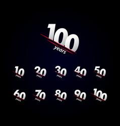 100 years anniversary celebration black and white vector