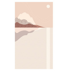 abstract sea landscape beautiful scenery a pastel vector image