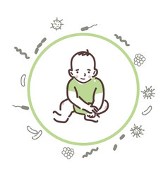 baby is protected from bacteria and viruses vector image