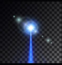 blue laser beam vector image
