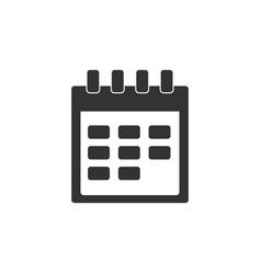 calendar icon isolated flat design vector image