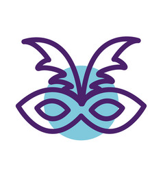 Carnival mask line style icon vector