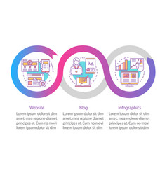 Channels for seo infographic template business vector