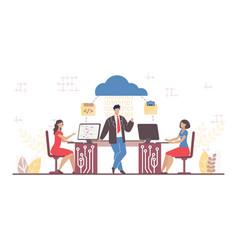 cloud computing segment business software service vector image