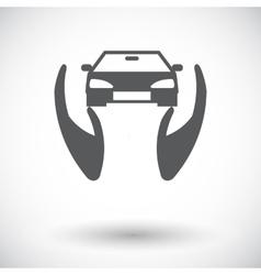Concept car insurance vector
