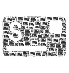 Credit card icon collage vector