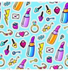 Decorative fashion patch badges vector image