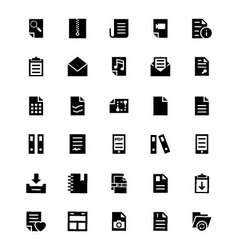 Documents Icons 4 vector image