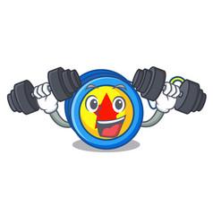 Fitness yoyo character cartoon style vector