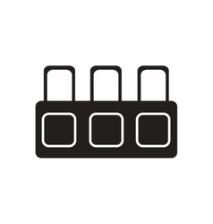 Flat icon in black and white tribune judge vector