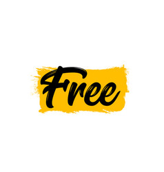 free word typography freedom banner font text vector image