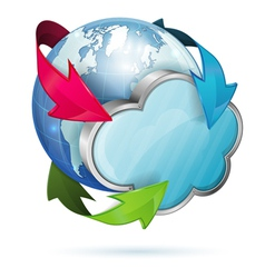 Global Access and Cloud Computing Concept vector image