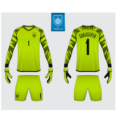 goalkeeper jersey or soccer kit mockup vector image