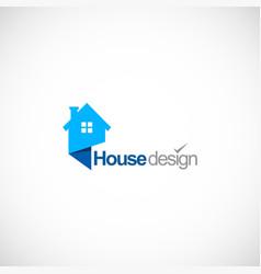 House design company logo vector