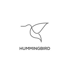 humming bird logo vector image
