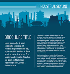 Industrial business template design vector