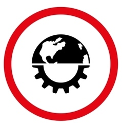 International Industry Flat Rounded Icon vector