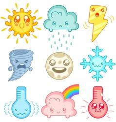 kawaii weather vector image