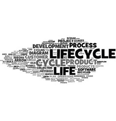 lifecycle word cloud concept vector image