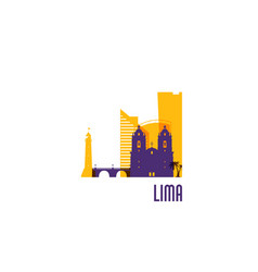 lima city emblem colorful buildings vector image