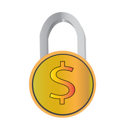 Money protection icon flat design business vector