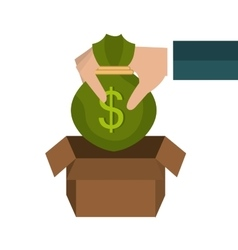 Money savings graphic vector image