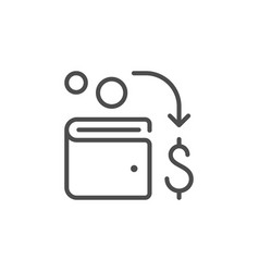 money transfer line outline icon vector image