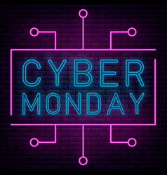 neon cyber monday vector image