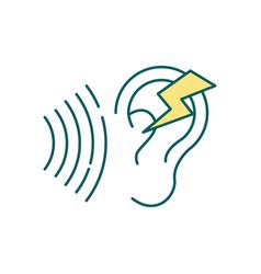 Noise sensitivity rgb color icon vector
