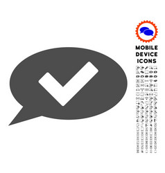 Ok message icon with set vector