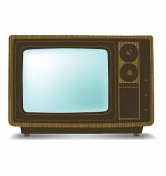 old wooden tv vector image