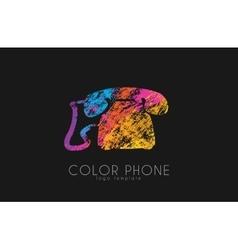 phone logo color phone design creative logo vector image
