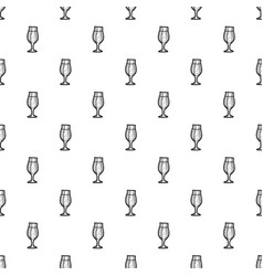 pub glass beer pattern seamless vector image