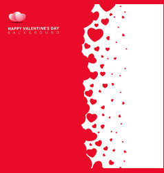 red hearts futuristic random size on white vector image