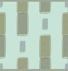 Seamless abstract handphone or mobilephone messy vector