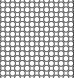 Seamless black and white octagon pattern design vector