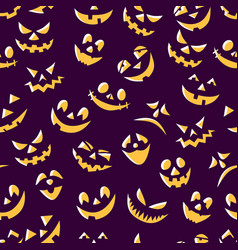 seamless pattern fun pumpkin smiles designer vector image