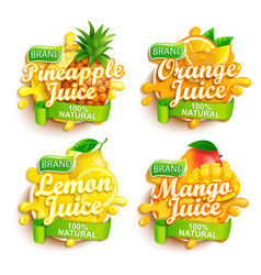 Set fresh juices logo vector