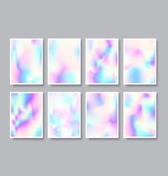 set hologram gradient texture background vector image