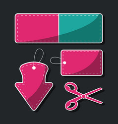 Shopping label tags vector