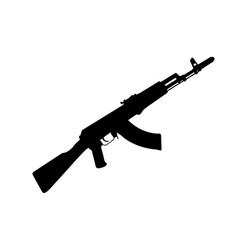 Silhouette of ak-47 - kalashnikov machinegun vector