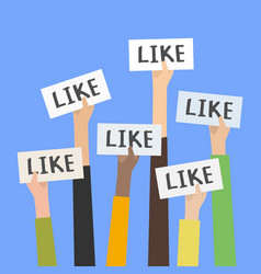social network likes approval customers feedback vector image