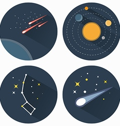 Stars constellations icons vector image