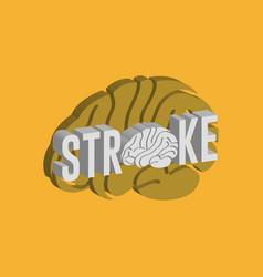 Stroke logo icon design medical vector