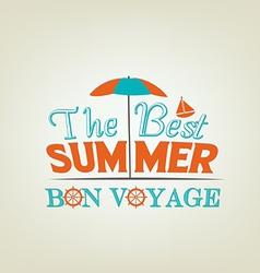 Summer design poster vector