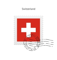 Switzerland Flag Postage Stamp vector