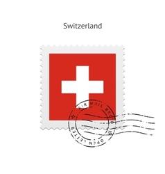 Switzerland postage stamp vector