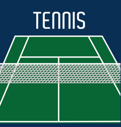 Tennis court to play with mesh object design vector