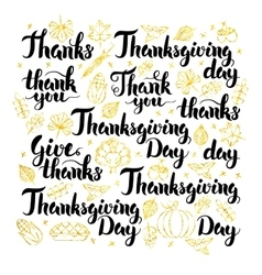 Thanksgiving Day Lettering Design vector