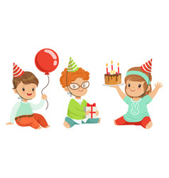 Toddlers birthday on a white vector